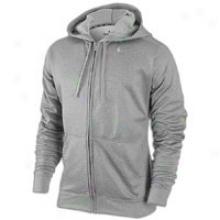 Nike Ko Strip Full-zip Hoodie - Mens - Dark Grey Heather/medium Grey