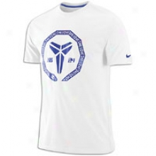 Nike Kobe Sheath Seal T-shirt - Mems - White/light Concord