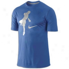 Nike Lax Blue Chip Legend T-shirt - Mens - Varsity Royal/carbon Heather/metallic Silver