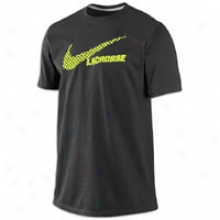 Nike Lax Checker T-shirt - Mens - Dark Gre6 Heathr/volt