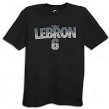 Nike Lebron 6 Pattern T-shirt - Mens - Black/black