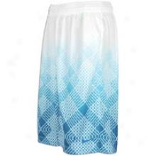 Nike Lebron All Over Short - Mens - White/green Hell