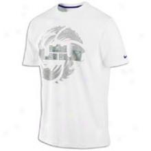 Nike Lebron Crown Seal T-shirt - Mens - White/club Purple