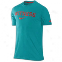 Nike Lebron Dri-fit Cotton Witness T-shirt - Mens - Green Abyss/challenge Red
