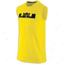 Nike Lebron Essentials S/l Top - Mens - Tour Yellow/black