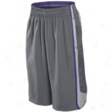 Nike Lebron Gt9 Short - Mens - Flint Grey/wolf Grey/club Purple