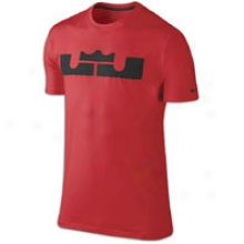 Nike Lebron Logo T-shirt - Mens - Sport Red/black