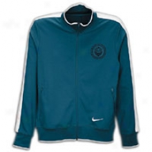 Nike Lebron N98 Jacket - Mens - Green Abyss/white