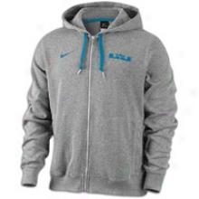 Nike Lebron Phantom Knit Zip Hoodie - Mens - Dark Grey Heather/green Abyss
