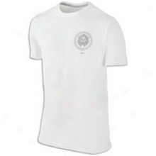 Nike Lebron Premium Crest T-shirt - Mens - White/wolf Grey/neutral Grey