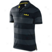 Nike Lebron Striped Grand Slam Polo - Mens - Black/tour Yellow