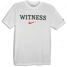 Nike Lebron Witness T-shirt - Mens - White/black/varsity Red