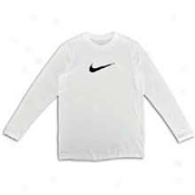 Nike Fable L/s T-shirt - Distended Kids - White/black