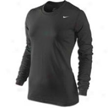 Nike Legend L/s T-shirt - Womens - Black/white