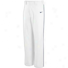 Nike Lights Out Piped Game Pant - Big Kids - White/navy/navy