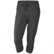 Nike Lightweight Fleece Capri - Womens - Black Heather