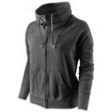 Nike Lightweight Full Zip Fleece - Womens - Black Heather