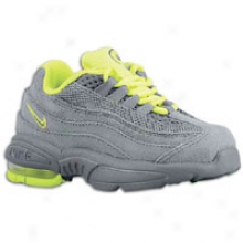 Nike Lirtle Max 95 - Toddlers - Cool Grey/cool Grey/volt