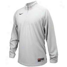 Nike Loong Sleeve Shoot Around Shirt - Mens - White/white/black