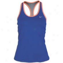 Nike Long Sport Top - Womens - Old Royal/bright Mango/matte Silver