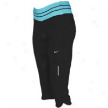 Nike Low Ascend Capri - Womens - Black/tide Pool Blue/matte Silver