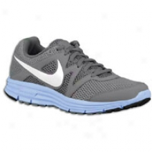 iNke Lunarfly +3 Breathe - Womens - Stealth/cool Grey/prism Blue//white