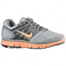 Nike Lunarglide+ 2 - Womens - Wolf Grey/peach Cream/cool Grey/pure Platinum