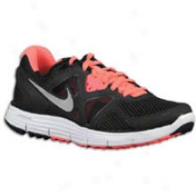 Nike Lunarglide + 3 Breathe - Womens - Black/white/hot Punch//metallic Silver