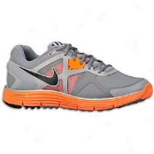 Nike Lunarglide + 3 Shield - Mens - Cool Grey/total Orange/reflect Silver/black