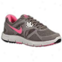 Nike Lunarglide + 3 - Womens - Smoke/birch/volt/pink Flash