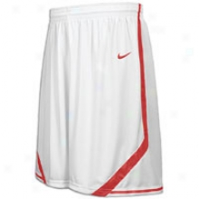 Nike Madness Game Short - Mens - White/scarlet