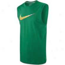 Nike Miami Swoosh Sleeveless Shirt - Mens - Pine Green