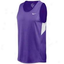 Nike Miler Running Singlet - Mens - Purple/white/white