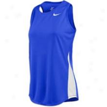 Nike Miler Running Singlet - Womens - Royal/white/white