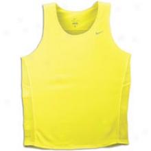 Nike Miler Singlet - Mens - Electrolime/reflective White
