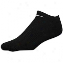 Nike Moisture Mangement No Show Sock - Mens - Black/white
