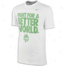 Nike Mp More familiar World S/s T-shrit - Mens - Pure