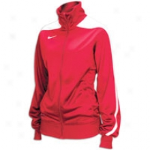 Nike Mysti fi Warm-up Jackdt - Womens - Scarlet/wbite/white