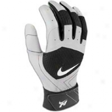 Nike N1 Fuse Batting Gloves - Meens - White/grey/black