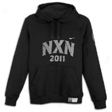 Nike Nxn11 Pullover Strip Hoodie - Mens - Black