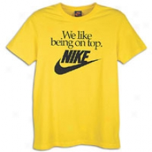 Nike On Top T-shirt - Mens - Varsity Maize