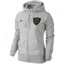 Nike Pacquiao Mp Aw Fz Hoodie - Womens - Dk Grey Heather