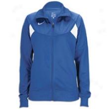 Nike Pasadena Ii Full Zip L/s Warm-up Jacket - Womens - Royal/white/white