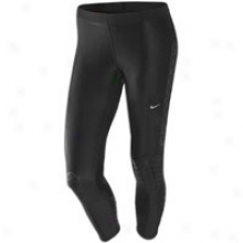 Nike Power Swift Capri - Womens - Black/metallic Silver