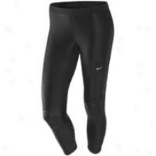 Nike Power Swift Capri - Womens - Black/metallic Silver