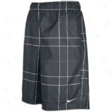 Nike Printed Classic Hap On Short - Mens - Anthracite/white
