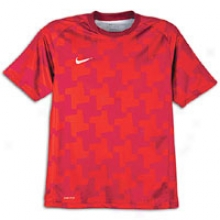 Nike Prm Dri-fit Spin-off Jersey - Mens - Challenge Red/solar Red/white
