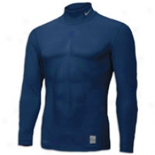 Nike Pro Combat Comp Long Sleeve Mock - Mens - Obsidian