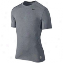 Nike Pro Combat Core Fitted 2.0 S/s - Mens - Carbon Heather/dk Steel Grey