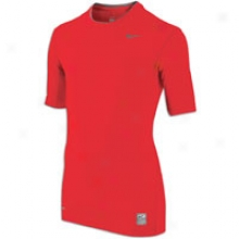 Nike Pro Combat Core Fitted S/s Yth T-shirt - Full Kids - Varsity Red